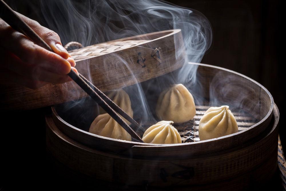 Bambusz gőzölő edény - Étrendező
